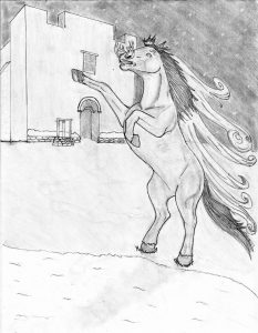 38 Tsíimin Tunich, el caballo maligno